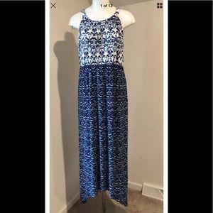 NWT SOMA maxi long dress pockets sleeveless XL